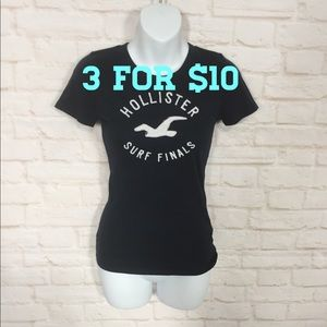 Hollister blue graphic T-shirt small